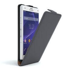 Tasche für Sony Xperia Z3 Compact Flip Case Schutz hülle Cover Etui Anthrazit