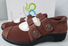 GRAVITY DEFYER Women's NIKODIA Brown Leather Mary Jane Walking Shoes Sz. 6.5 New