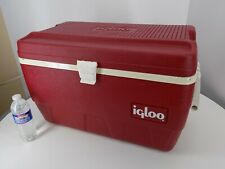 Vintage Red Igloo Chest Cooler- 48 Quart, see condition notes and pictures
