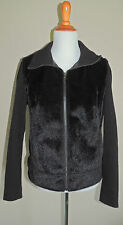 WOMENS JACKLYN SMITH BLACK ACRYLIC BLEND ZIPPER JACKET SIZE LG