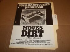 PY116) Bush Hog Sales Brochure 2 Pages - Dirt Speedmover