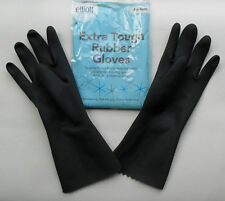 Extra Tough Heavy Duty Medium Rubber Gloves, Household, Kitchen, Black, Elliott