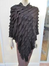 Pink Cadillac - BNWT - Womens Black Soft Knit Poncho