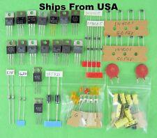 LM 317T 7805 7806 7809 7812 & 7900 Series 14 Voltage Regulators + Caps & Diodes