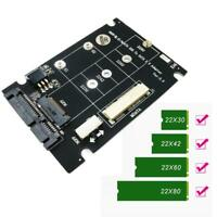 2 in 1 NGFF M.2 B+M Key Mini PCI-E or mSATA SSD to SATA III Adapter Card Panel