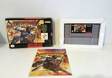 Sunset Riders (Super Nintendo 1993) COMPLETE Manual and Box SNES