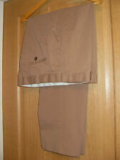 M&S TAILORING WASHABLE TROUSERS W38  L29  CAMEL POLY/COTTON STYLE & QUALITY FAB