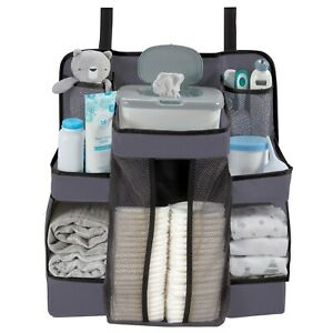 L.A. Baby Diaper Caddy and Nursery Organizer for Baby's Essentials, Grey