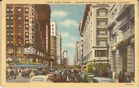 Los Angeles, CALIFORNIA - Seventh & Broadway - 1943 - old cars, trollies