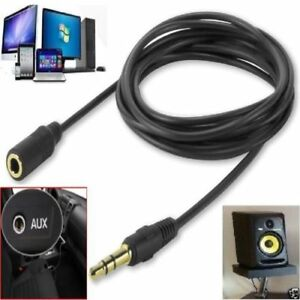 1M-20M 3.5mm Jack Extension Cable Lead Stereo Plug to Socket AUX Headphone  GOLD