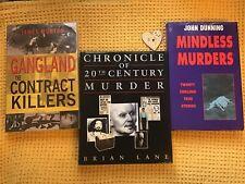 Set Of 3 True Crime Books , Serial Killers , Gangsters , Gangland , Murderers