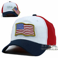 USA American Flag Hat Detachable Patch Tactical Military Baseball cap-Flag Color