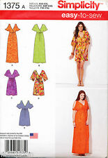 SIMPLICITY SEWING PATTERN 1375 MISSES 4-26 MOCK WRAP COLD SHOULDER DRESS & MAXI