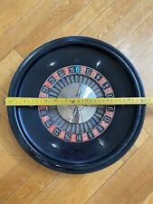 Super Rare 1920's J.A.L  #24 Roulette Table And Felt Made In Paris France. 35cm