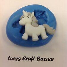 Silicone Mould Unicorn Fairy tale Sugarcraft Cupcake Topper Chocolate Sculpey