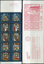 SWEDEN 1982 CHRISTMAS/ART/STAINED-GLASS WINDOWS/CURCH AT LYE GOTLAND