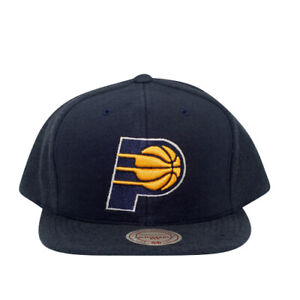 Indiana Pacers Mitchell and Ness French Terry Snapback Hat
