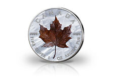 Maple Leaf 1 oz Silbermünze 2020 Kanada Winter mit Farbapplikation