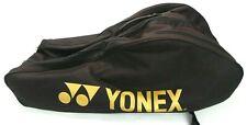 Vtg Yonex 9 Racquet Tennis Bag Black molded Back Pack Lots of Pockets
