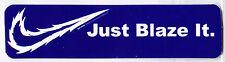 Just Blaze it Sticker Parotee Marijuana Collectible Funny Joke Decal Bumper Lapt