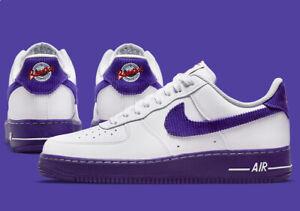 "Nike Air Force 1 '07 LV8 EMB Shoes ""Court Purple"" White DB0264-100 Men's NEW"