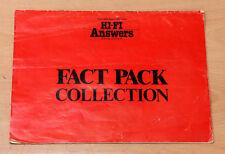 Hi-Fi risposte FACT Pack COLLEZIONE APRILE 1987 DISCO REPLAY Altoparlanti Digtal Audio