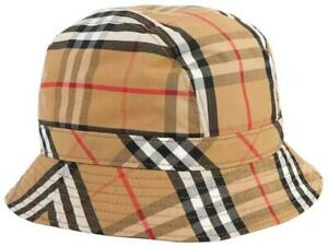 Burberry Camel Bucket Checked Cotton-blend Twill hat, Beige, New with tag!!!