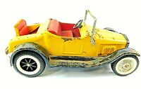 NYLINT Vintage 1960'S Yellow Hot Rod Roadster Rumble Seat Pressed Steel