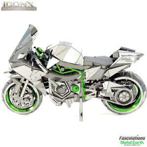 Metal Earth ICONX Kawasaki Ninja H2R Motorcycle 3D DIY Model Building Kit Puzzle