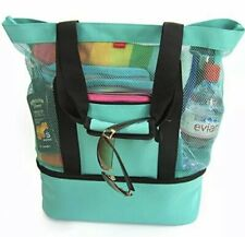 OdyseaCo - Aruba Beach Bag - Beach Tote w/ Zipper & Insulated Cooler