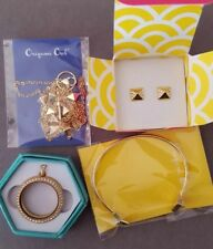 Authentic Origami Owl Studded In Gold  Locket Set HOSTESS EXCLUSIVE W/ LOCKET