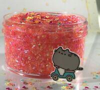 "Bingsu Slime ""OK ZOOMER"" SCENTED Pink Crunchy Bead Rainbow Glitter Charm 6 8 oz"