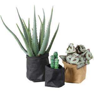 Washable Kraft Paper Bag Plant Flowers Pot Multifunction Home Storage Bags Reuse