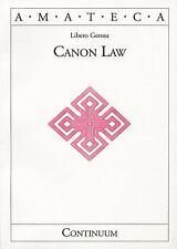Canon Law (Handbooks Of Catholic Theology), Libero Gerosa, New Book