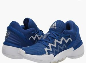 Adidas D.o.n. Issue 2 Indoor Court Shoe Collegiate Royal/White size 12 Sports