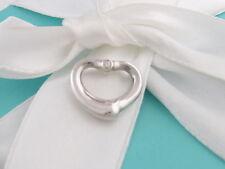 Tiffany & Co Peretti Silver Open Heart Two Diamond Pendant 4 Bracelet / Necklace
