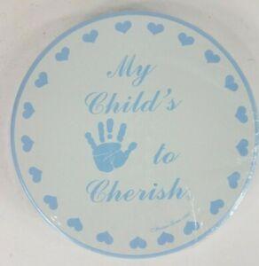 NIP Vintage 1987 My Childs Handprint to Cherish casting kit blue tin Perine Lowe