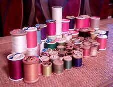 Mixed Lot of 69 Vintage Small Wooden Thread Spools Coats & Clark's J.P. Coats ++