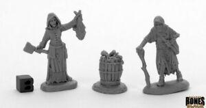 Reaper Miniatures - 44033 - Dreadmere Townsfolk: Fishwife & Crone (2) - Bones...