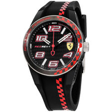 Ferrari RedRev T Quartz Movement Black Dial Men's Watch 830336
