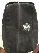 PEBBLE BEACH GOLF LINKS Travel Shoe Bag - Black With Inside Compartment