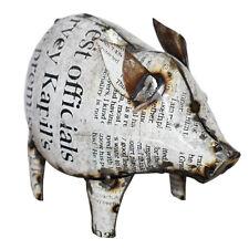 Metal Pig Garden Sculpture Ornament Statue