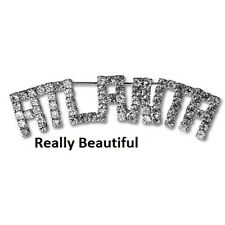 atlanta pin large rhinestone brooch swarovski crystal NWT