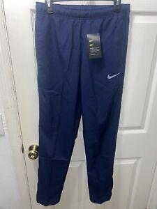 NWT Mens Nike Dri Fit long athletic pants Blue Size small gym workout pants