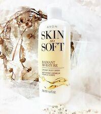 New! Sealed Avon Skin So Soft Radiant Moisture Creamy Body Wash 11.8 Fl Oz Peony