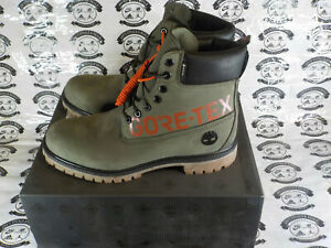 Timberland 6 Inch Gore-Tex Boots - TB0A2ECU - Green / Orange / Black - Mens 10.5