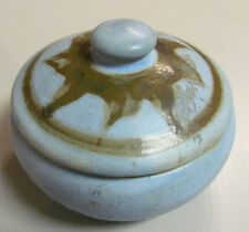 CLONMEL POTTERS JAMAICA BLUE TRINKET BOX DISH