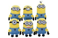 DESPICABLE ME 2 MOVIE MINION CHARACTERS SOFT TOY PLUSH SET OF 6  9054