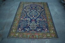 Super Fine Quality  100% Wool Pictorial Rug Are rug and wall hanging 4'6 x 6'6ft