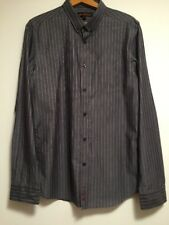 BEN SHERMAN BLUE with PINK Stripe COTTON SHIRT SIZE L (NEW WITHOUT TAGS)